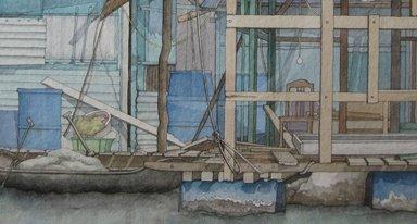 """Exposition """"Maisons, cabanes et cabanons de Véronique Frampas"""