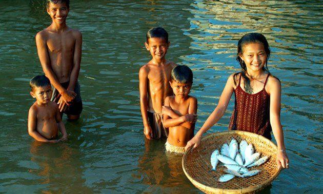 Le Cambodge, le long des berges du Mékong