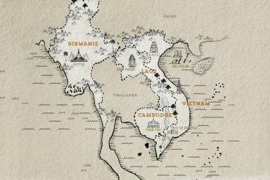 voyage asie sud est carte indochine