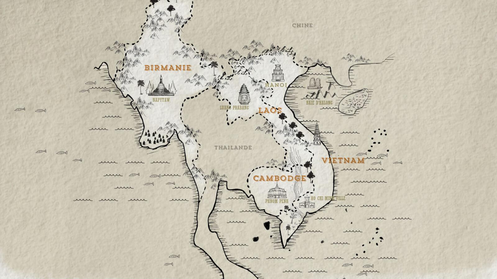 Carte Du Monde Laos.Choisir Entre Le Vietnam Le Cambodge Ou Le Laos 360 Indochine