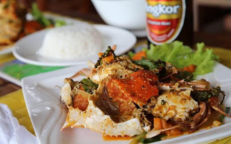 le fameux crabe de Kep au poivre vert frais Amica Travel