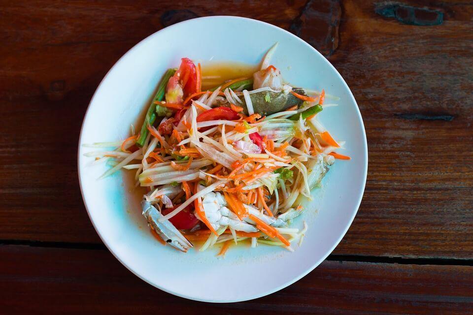 recette salade de papaye laos amica travel