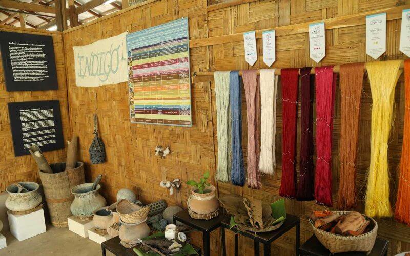 teinture soie laotienne