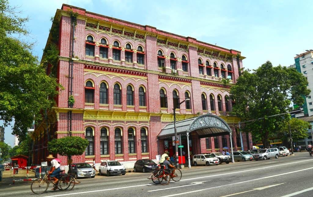 architecture coloniale Yangon