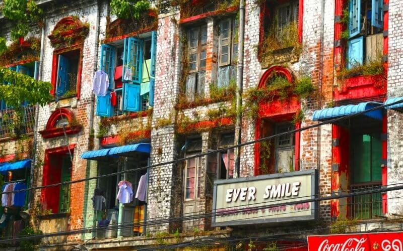 architecture coloniale Yangon
