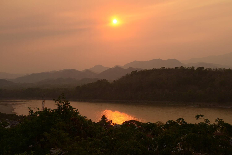mekong coucher soleil