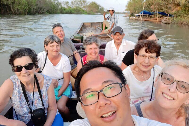 selfie groupe voyageurs amica travel